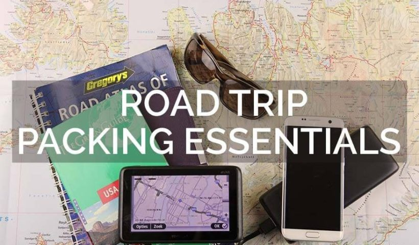 From first aid kits to flashlights and seat organizers, here are 13 things to put on your road trip packing list.