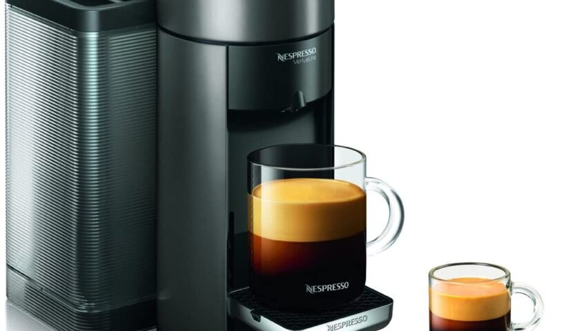 Nespresso A+GCC1-US-BK-NE VertuoLine Evoluo Deluxe Coffee