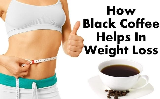How black coffee helps on weight loss